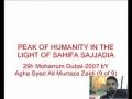 9-Peak of Humanity in the light of Sahifa-e-Sajadia Urdu