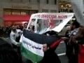 Protest in Manhattan NY against Israel Terror - Gaza massacre - English