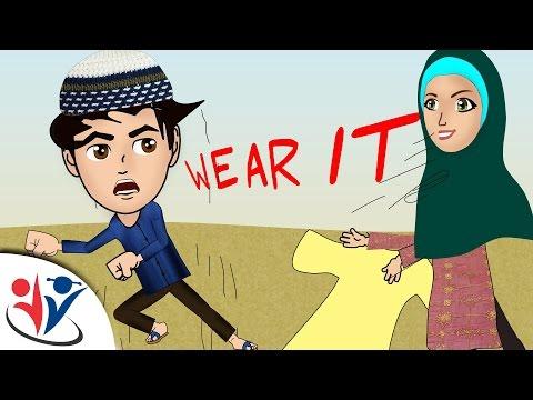 Abdul Bari Muslims Islamic Cartoon for children - wear your clothes   dua when clothing- English