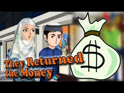 Abdul Bari Muslims Islamic Cartoon for children - They Returned the Money- English