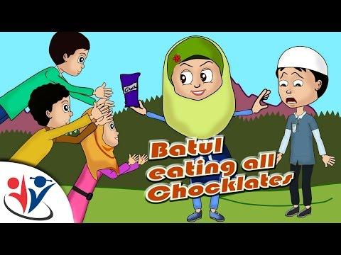 Abdullah & friends Muslims Islamic Cartoon for children - Abdullah & friends Batul took more chocolates- Urdu