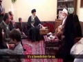 Exclusive Clip - Imam Khamenei paid a visit to a family of martyrs with kids - inQiLaBi Media - Farsi sub English