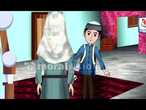 Abdul Bari Muslims Islamic Cartoon for children - Abdul Bari upon hearing good news - Urdu