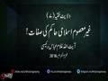 غیر معصوم اسلامی حاکم کی صفات! - H.I. Ghulam Abbas Raisi - Urdu