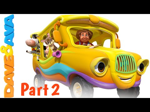 Wheels on the Bus – Animal Sounds Song   Nursery Rhymes and Baby Songs - English