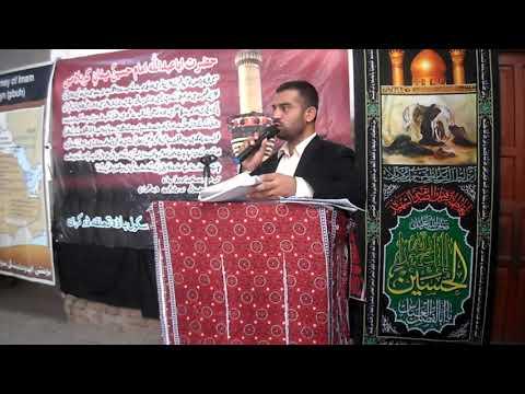 [Hussain Day at Masomin Public school Badah] Speech by  Sir Saeed Ali - Sindhi