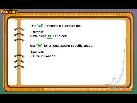 [Educational Videos] Prepositions Class KG - English