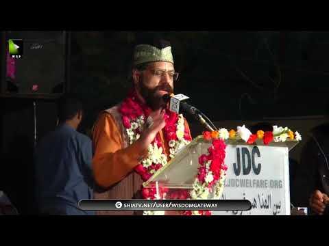 Janab Alamdar Hussain   Qoumi Milad-e-Mustafa saww Conference - 1439/2017 - Urdu