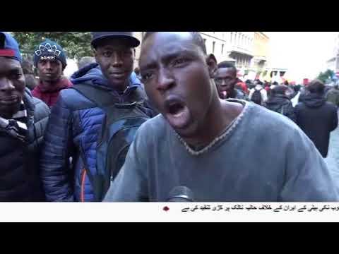 [18Dec2017] روم میں ٖیر ملکی پناہ گزینوں کا مظاہرہ- Urdu