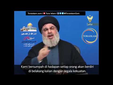 [Clip] Takdir Allah Palestina akan Merdeka (bag. 6) | Sayyid Hasan Nasrallah - Arabic sub Malay