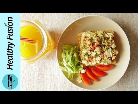 [Quick Recipe] Quick Egg Salad Sandwich - English Urdu