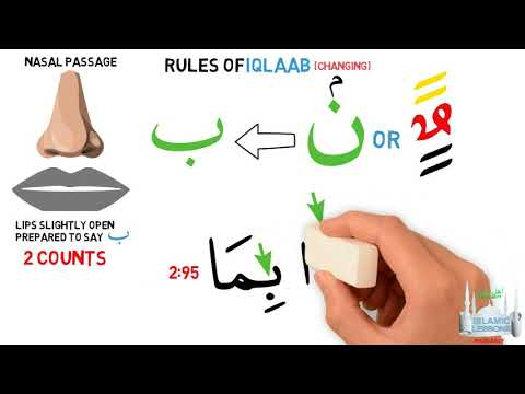 Tajweed in minuets - (Iqlaab) -  Rules of Changing