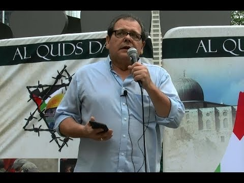 AlQuds Day Toronto Speech by Miguel Figueroa Canadian Peace Congress - English