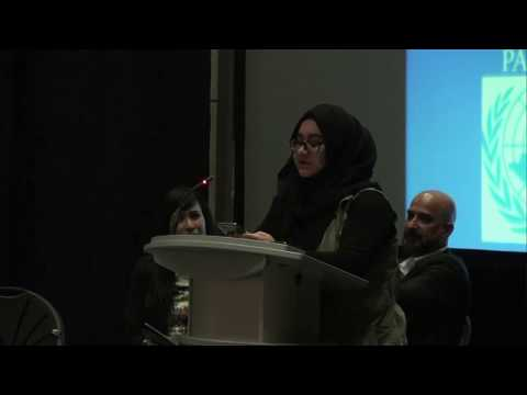 Part 2 - Miss Asfa Riyaz at United Nations World Interfaith Harmony Week Calgary  2018