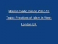 Sadiq Hasan Practices of Islam in West 2007 10 - URDU