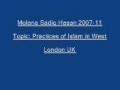 Sadiq Hasan Practices of Islam in West 2007 11 - Urdu