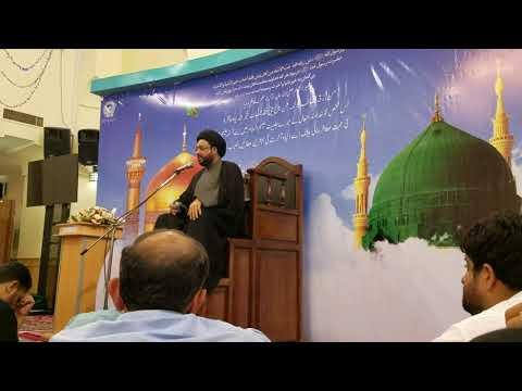 Majlis e Aza 22 July 2018 By Moulana Syed Ehteshaam Rizvi at Roza e Imam Raza(علیہ السلام) - Urdu