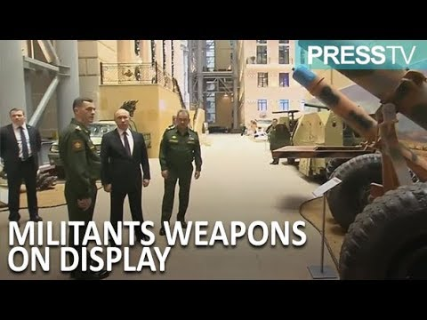 [19 December 2018] Putin visits weapons seized from militants in Syria - English
