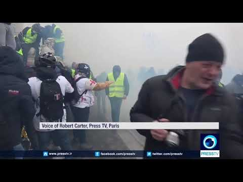 [6 January 2019] French 'yellow vests\' march through Paris in protest against high living costs - English