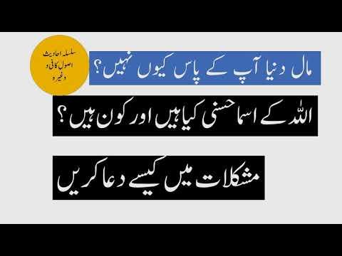 اسما حسنی کیا ہیں Asmae husna - Urdu