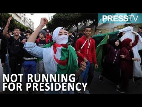 [12 March 2019] Algerian protesters hail president\'s decision not to run for 5th term - English