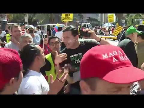 [17 March 2019] Scuffles erupt at Venezuela solidarity march in Los Angeles - English