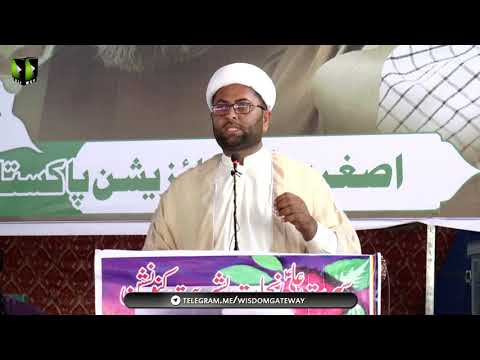 [Speech] Moulana Sarfaraz Mehdi | Youm-e-Ali (as) | Asghariya Org. Convention 2019 - Sindhi