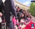 [13 May 2019] French activists paint steps of the Trocadero with \'BLOOD\' of extinct animals - English