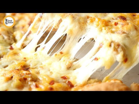 [Quick Recipes] Seekh Kabab Stuffed Pizza (without oven) - English Urdu