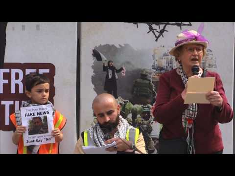 Suzanne Weiss Holocaust survivor - Toronto Al Quds Rally 2019 - English