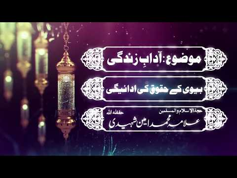 بیوی کے حقوق | علامہ محمد امین شہیدی حفظہ اللہ - Urdu