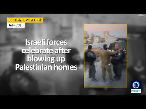 [25 July 2019] Israeli forces laugh and cheer as they blow up a Palestinian home - English