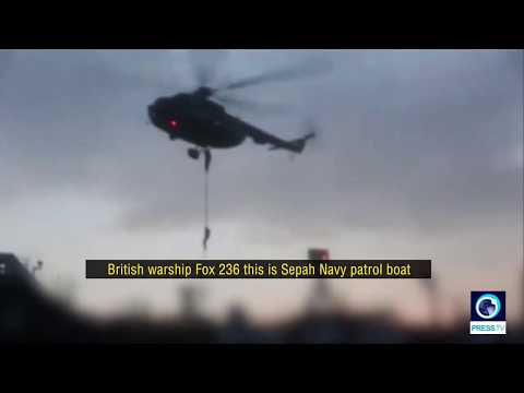 [29 July 2019] IRGC clip shows Iranian navy warning UK warship 'not to interfere in its mission' - English