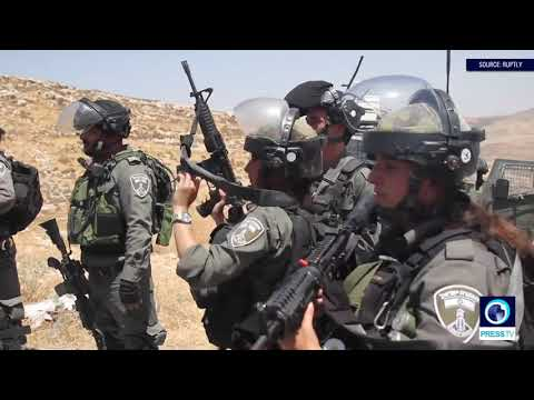 [17 August 2019] Israeli forces fire teargas at Palestinian protesters near Ramallah - English