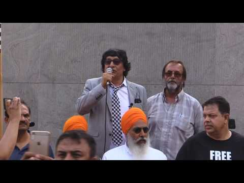 Farooq Papa addressing to Kashmir Solidarity Rally Toronto 18Aug2019 - English