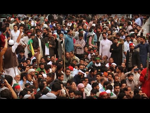 [07/10/19] Pakistani protesters try to cross blocked road in solidarity with Kashmiris - English
