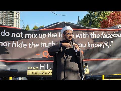 Sheikh Muhammad Hasnain - Arbaeen Walk Toronto Oct  20, 2019 - English