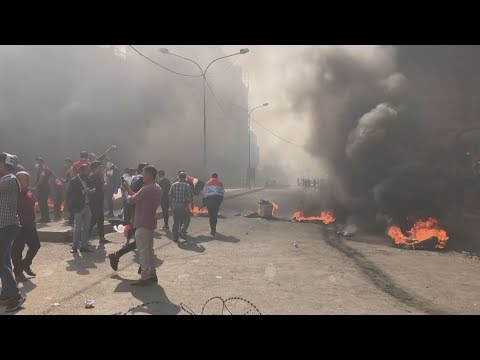[03/11/19] Iraq: Protesters block central Baghdad with burning barricades - English