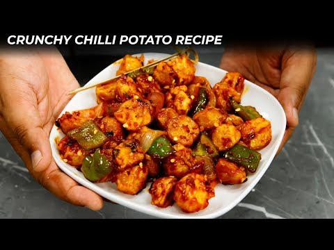 Chilli Potato Recipe - CookingShooking Crunchy Crispy Spicy Chilly Aloo English