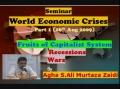 Seminar on Global Economic Crisis Part 1 by Agha AMZaidi - Urdu
