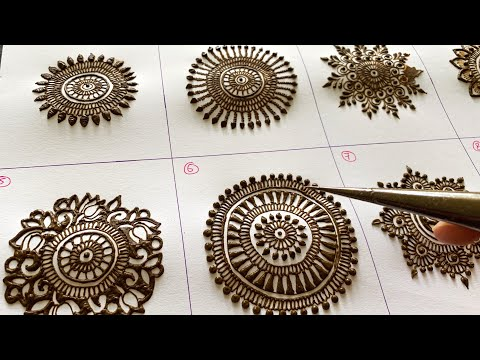 HENNA MEHNDI FOR BEGINNERS - TYPE OF MANDALAS PRO LEVEL | All Languages