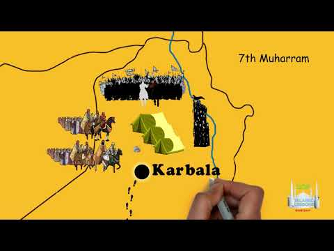 The Route of Imam Hussein to Karbala | English
