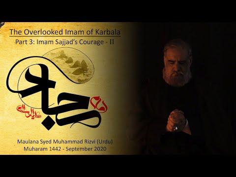 3 | 4th Imam\'s Courage (2) | The Overlooked Imam of Karbala | Maulana Syed Muhammad Rizvi | Urdu