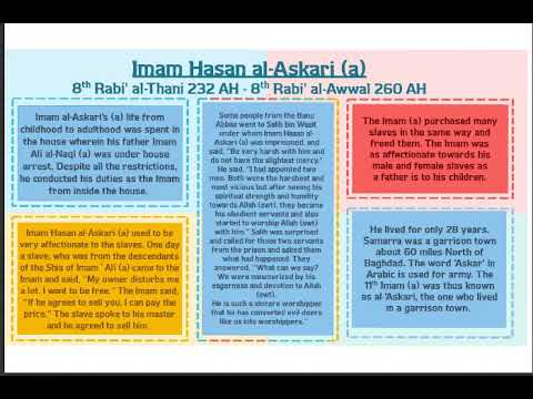 The qualities and virtues of Imam Hasan al-Askari (a) - English with Urdu Noha