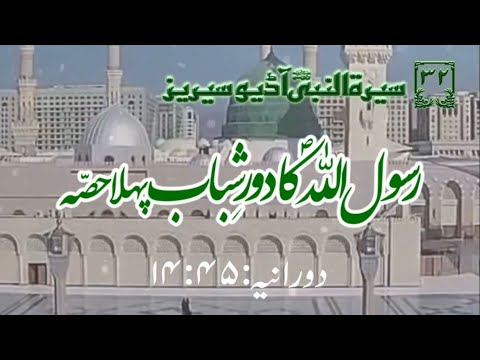 [32]Topic: Young Age of Holy Prophet PBUH part 1 | Maulana Muhammad Nawaz - Urdu