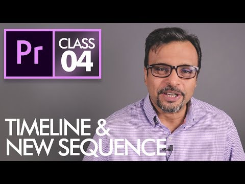 New Sequence and Timeline - Adobe Premiere Pro CC Class 4 - Urdu / Hindi