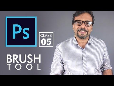 Brush Tool - Adobe Photoshop for Beginners - Class 5 - Urdu / Hindi