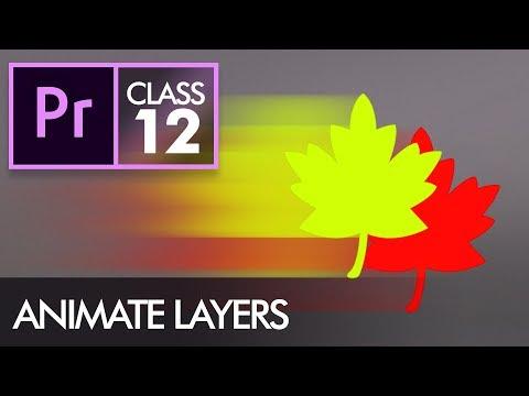 Animate Layers with Keyframes - Adobe Premiere Pro CC Class 12 - Urdu / Hindi
