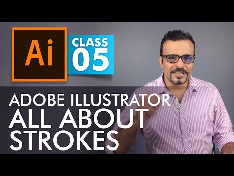 Adobe Illustrator Training - Class 5 - All About Strokes Urdu / Hindi