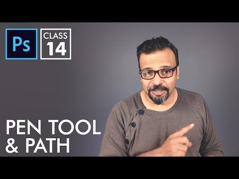 Pen Tool and Path - Adobe Photoshop for Beginners - Class 14 - Urdu / Hindi